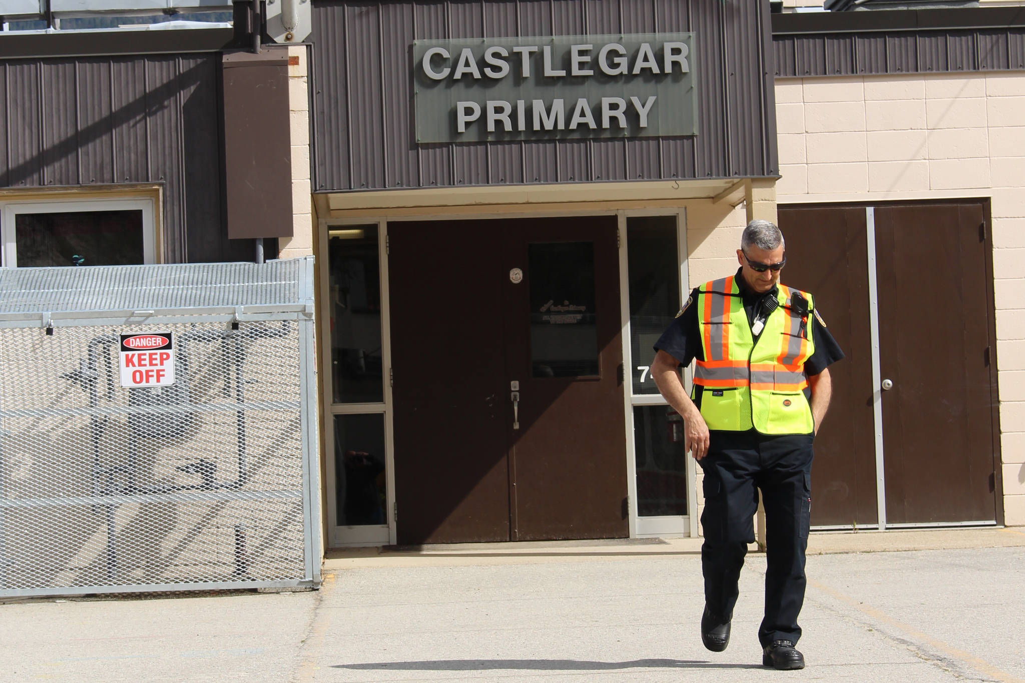 Castlegar fire chief Sam Lattanzio was called to a suspected gas leak at Castlegar Primary School April 15. Photo: John Boivin